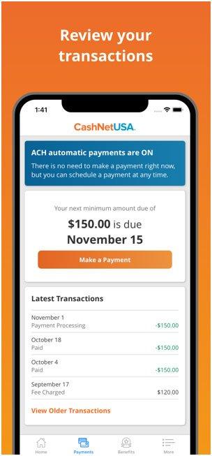 CashNetUSA Screenshot